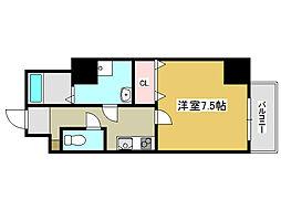 兵庫県姫路市南町の賃貸マンションの間取り