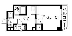 クレイドル西田辺[2階]の間取り
