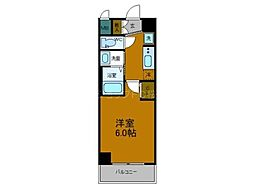 Osaka Metro中央線 弁天町駅 徒歩10分の賃貸マンション 5階1Kの間取り