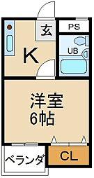 イナビル[3階]の間取り
