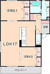 仮)D-room熊野町[201号室]の間取り