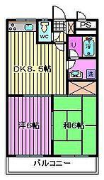 クリーンピア[305号室]の間取り