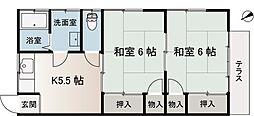 高橋荘[101号室]の間取り