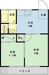千葉県浦安市海楽1の賃貸アパートの間取り
