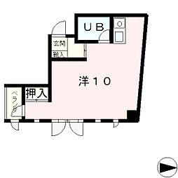滋賀県大津市栄町の賃貸マンションの間取り