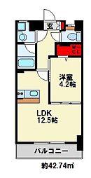KMマンション熊手[2階]の間取り