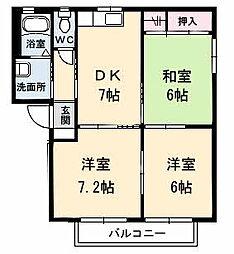 シャーメゾン コンファーレ A棟[202号室]の間取り