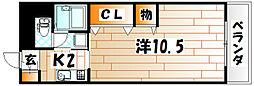 SKハイツ[10階]の間取り