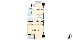 REGARIA KOKURAKITA CENTER PLACE[5階]の間取り