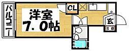 福岡県春日市須玖南1丁目の賃貸マンションの間取り