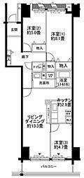 ルリエ横浜長者町[706号室号室]の間取り