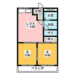 セントラルパークD[1階]の間取り