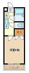 東京都江戸川区篠崎町3丁目の賃貸マンションの間取り