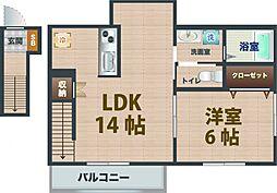 東京都中野区白鷺3丁目の賃貸アパートの間取り