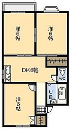 メゾンK[201号室]の間取り