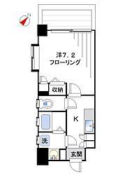ヒルズ北新宿[701号室]の間取り