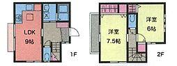 [テラスハウス] 神奈川県藤沢市辻堂3丁目 の賃貸【/】の間取り