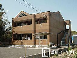 愛知県豊田市上郷町大清水の賃貸アパートの外観
