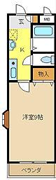 愛知県名古屋市緑区白土の賃貸マンションの間取り