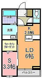 仮)元吉田アパート[203号室]の間取り