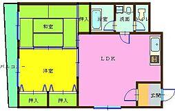 ハニーハイツ三萩野[8階]の間取り