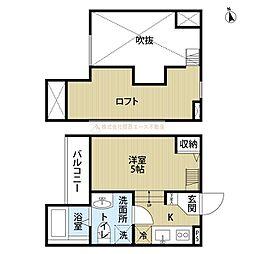 大阪府堺市堺区東雲西町4丁の賃貸アパートの間取り