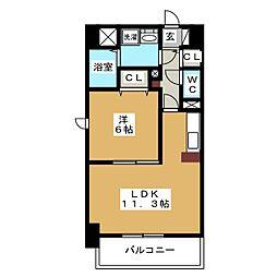 愛知県名古屋市港区港楽3丁目の賃貸マンションの間取り
