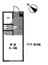 神奈川県横須賀市追浜東町3丁目の賃貸アパートの間取り