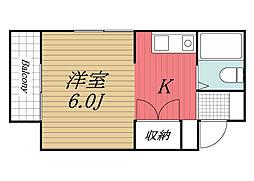 千葉県成田市本町の賃貸マンションの間取り