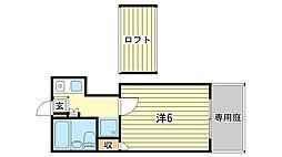 ポポラーレ姫路[1階]の間取り
