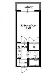 川辺ビル[2階]の間取り