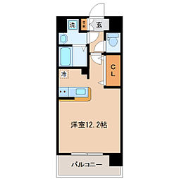 アーバンフラッツ小田原[2階]の間取り