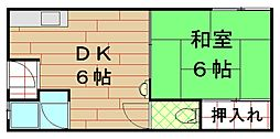 江口ビル[2階]の間取り