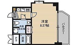 ディナスティ福島2 11階1Kの間取り