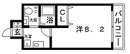カッシア天王寺東[10階]の間取り
