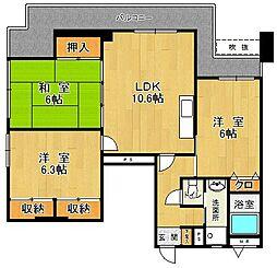 第2マスビル[6階]の間取り