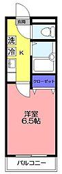 YKマンション[601号室]の間取り