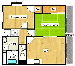 サウスエステート[2階]の間取り