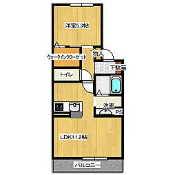 兵庫県宝塚市清荒神2丁目の賃貸マンションの間取り