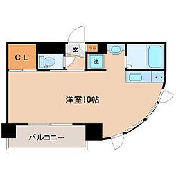 仙台市地下鉄東西線 青葉通一番町駅 徒歩6分の賃貸マンション 5階ワンルームの間取り