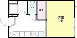 ジュピター山崎[102号室]の間取り