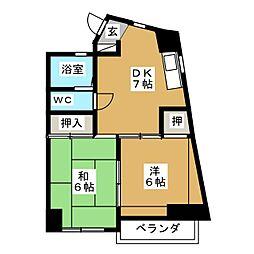 石神ビル[4階]の間取り