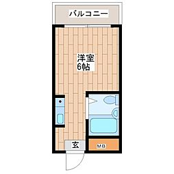 トラスティ加美[415号室]の間取り