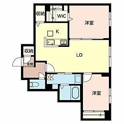 兵庫県姫路市網干区垣内本町の賃貸アパートの間取り