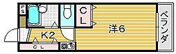大阪府摂津市正雀本町1丁目の賃貸マンションの間取り