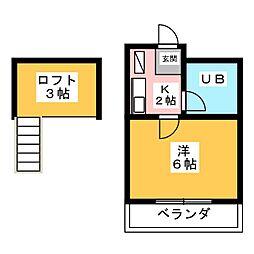 メゾン・ブランシェII[2階]の間取り