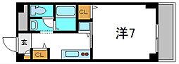 京阪本線 守口市駅 徒歩5分の賃貸マンション 2階1Kの間取り