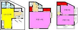[一戸建] 大阪府東大阪市稲田本町1丁目 の賃貸【/】の間取り