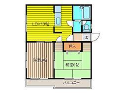 平成ハイツ[1階]の間取り