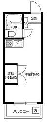 サンハイツ日野[2階]の間取り